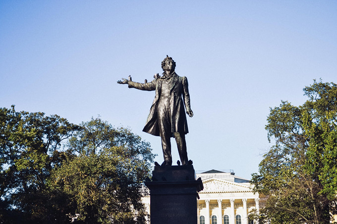 petersburg pushkin statue