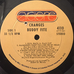 BUDDY FITE:CHANGES(LABEL SIDE-A)