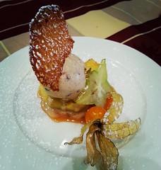 Pomme au four, glace cannelle à La Charrue