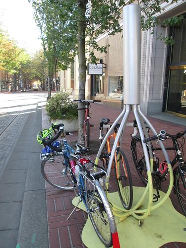 Bike rack, St Cupcake