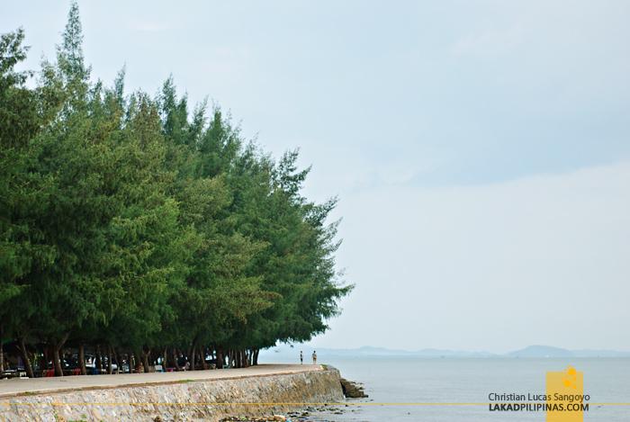 Prasae Breakwater Rayong Thailand