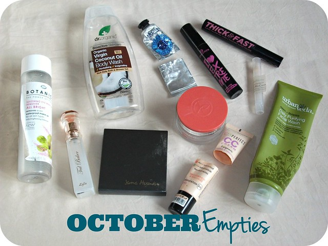 October Beauty Empties