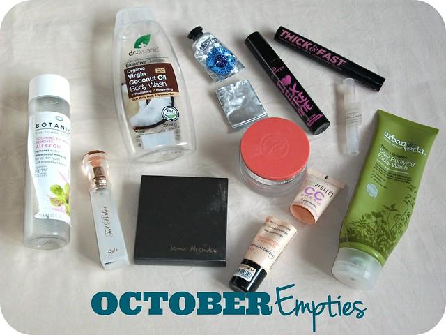 October Beauty Empties