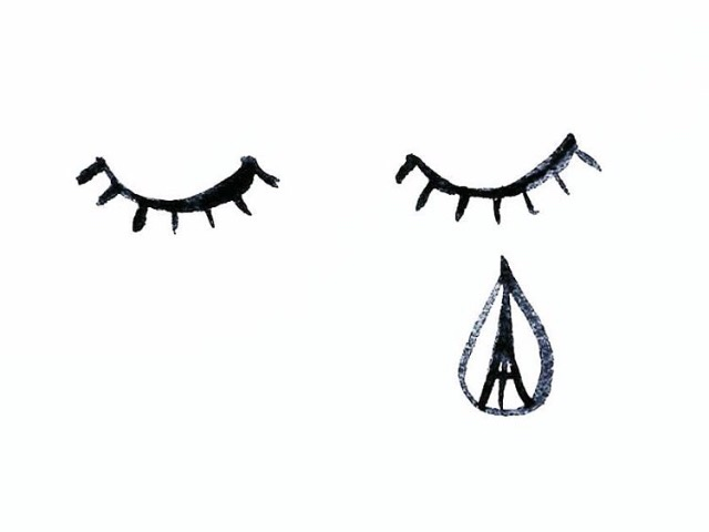 PAIN IS MADE BY MAN 💔💔💔 #prayforparis #jesuisparis  (Illustration by @lelelerele)