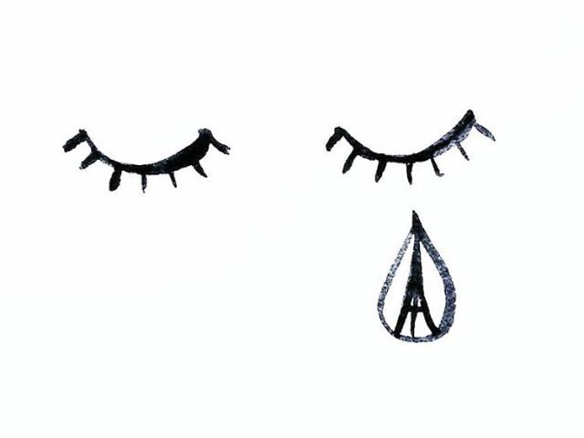 PAIN IS MADE BY MAN 💔💔💔 #prayforparis #jesuisparis  (Illustration by @lelelerele)