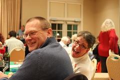 Renee Dallman and her husband having fun. Photo by George Reiske.