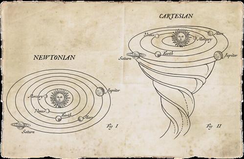 Gravedad newtoniana y cartesiana