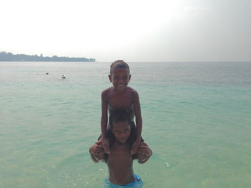 Pasir Putih Beach - Boys Swimming