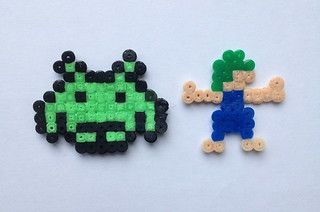 Space invader and lemming