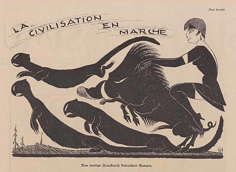 Karl Arnold - La civilisation en marche, 1920