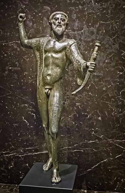 Etruscan Statuette from Apiro, Italy 460-450 BCE Bronze