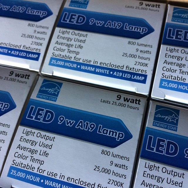 Free bulbs from the electric company. #led #lightbulbs