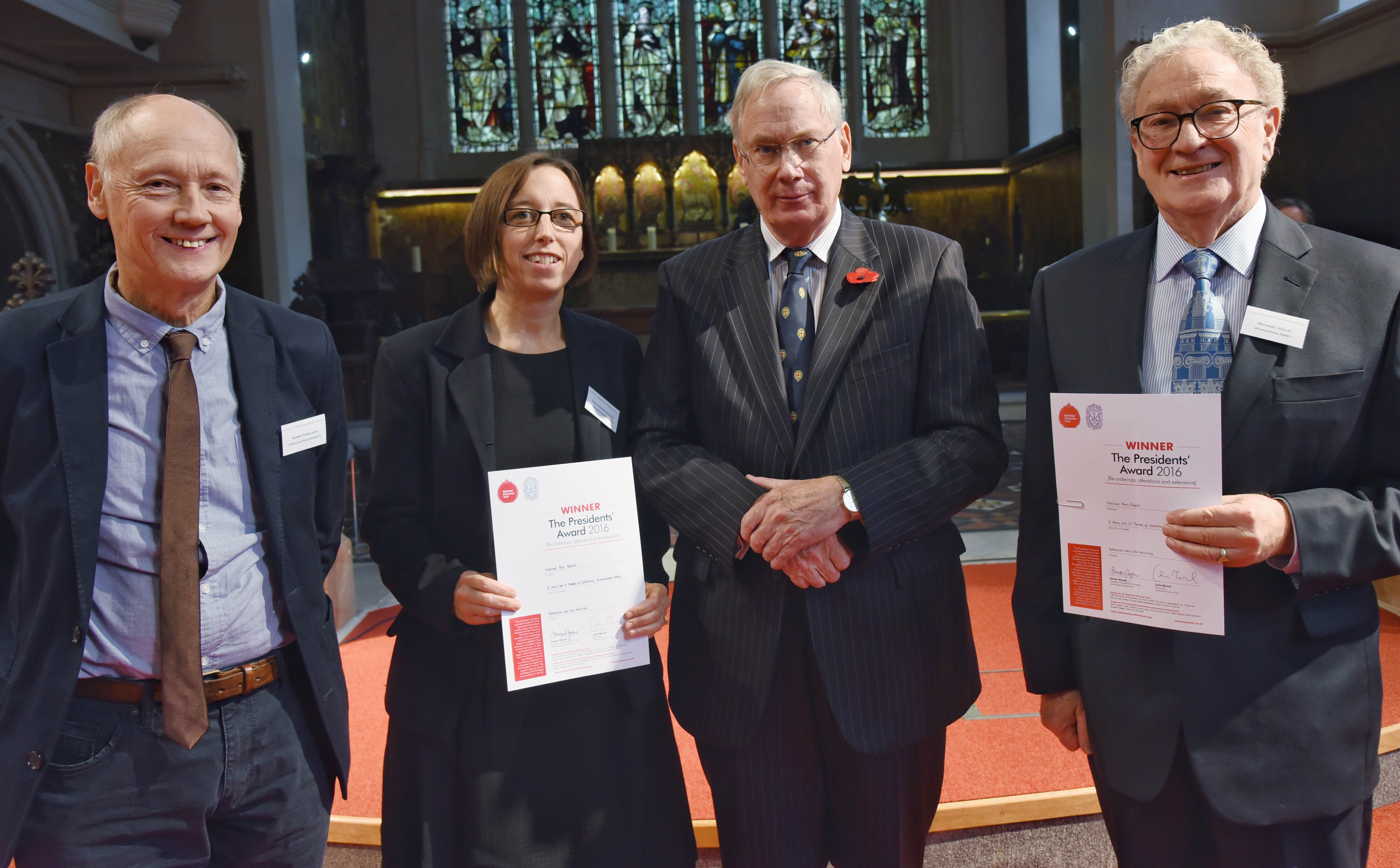 Winners of the 2016 Presidents' Award for  new designs in church re-ordering, alterations or extensions