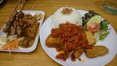Ayam Balado AUD9.50, rice AUD2, Sate Ayam AUD8.50, lontong AUD2 - Fat Oma, Melbourne - Alpha's