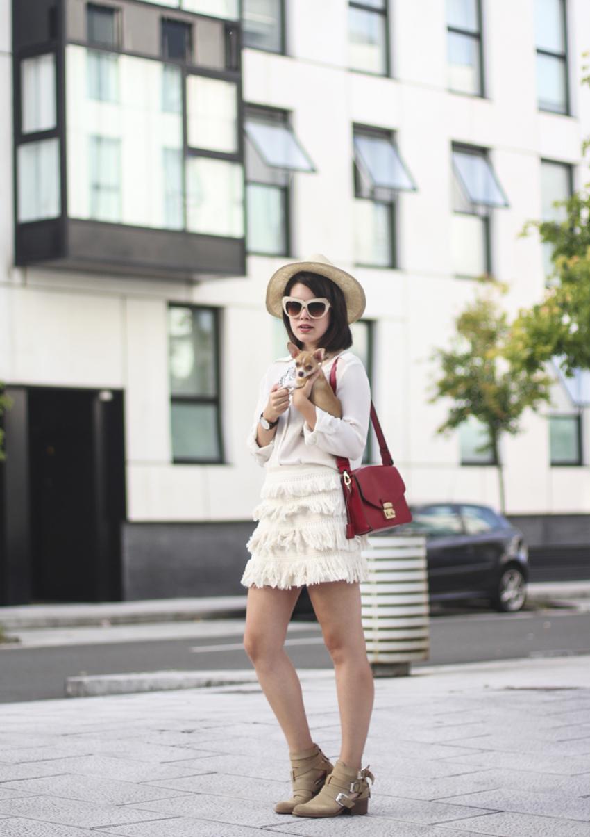 como combinar falda flecos boho chic streetstyle myblueberrynightsblog