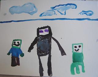 3 Boticelli - Minecraft Watercolour - E