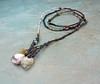 'a summer shoreline' necklace by greybirdstudio