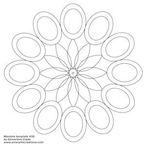 Mandala template 50