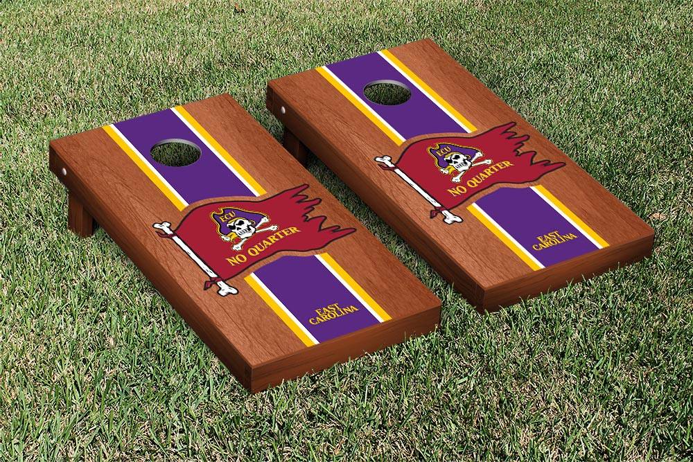 East Carolina University Pirates Rosewood Stained Stripe No Quarter Version