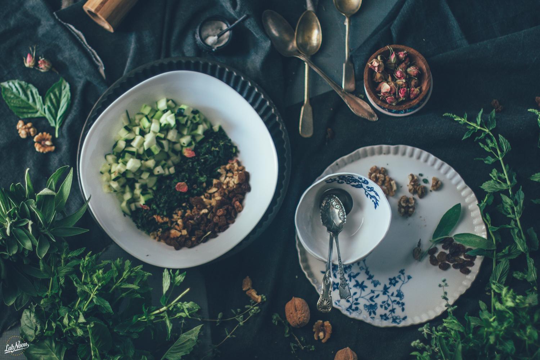 Ab Doogh Khiar | Persian Cold Soup with Yoghurt and Herbs | Zuppa Fredda di Yoghurt alla Persiana | Lab Noon-5