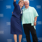 Selfie time with Val McDermid & Nicola Sturgeon | The First Minister gets a selfie with Val McDermid at the Book Festival © Alan McCredie
