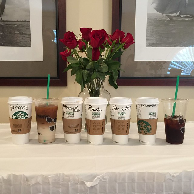 Bridal Party Starbucks