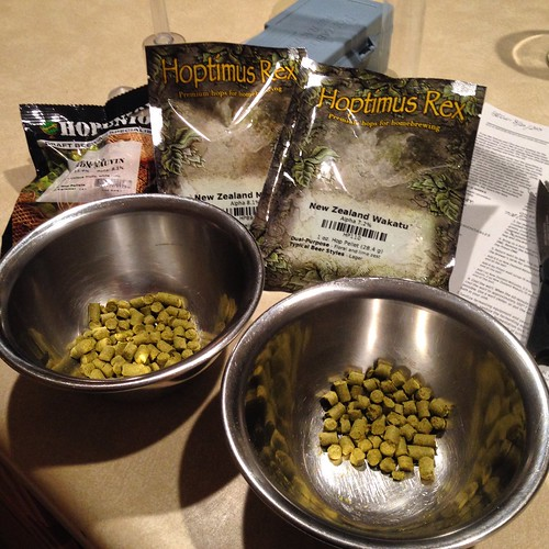A whole bunch of New Zealand hops happening here. #homebrewing