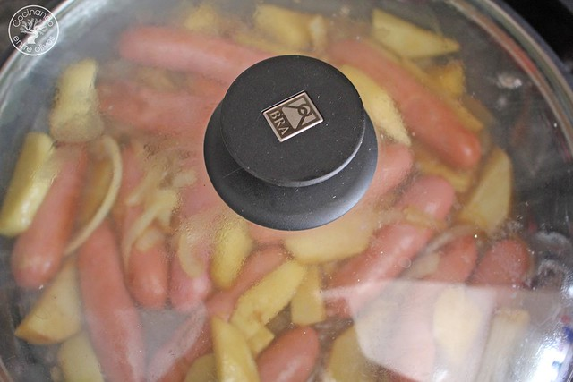 Salchichas frescas de pollo con miel, mostaza y manzana www.cocinandoentreolivos.com (12)
