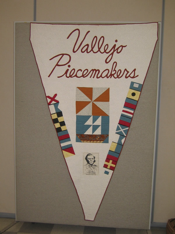 The Vallejo Piecemakers Quilt Banner