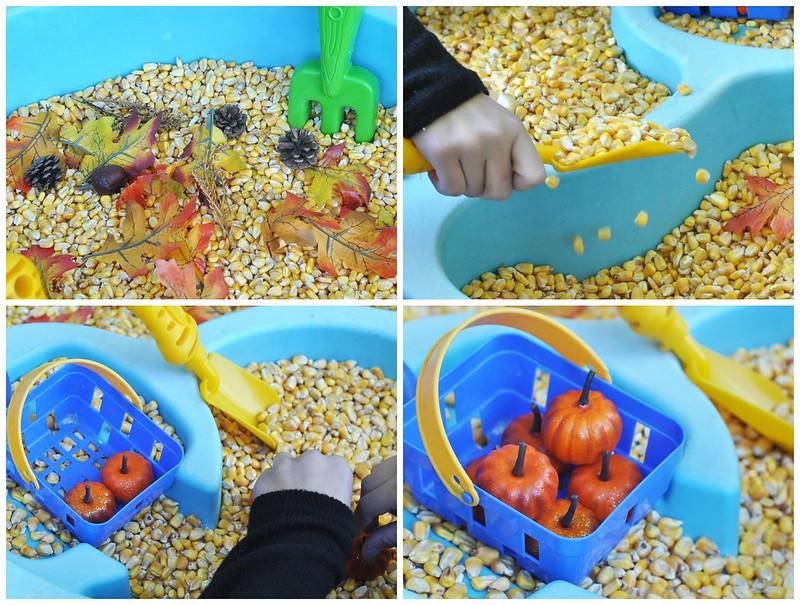 Fall-Themed Water Table Play