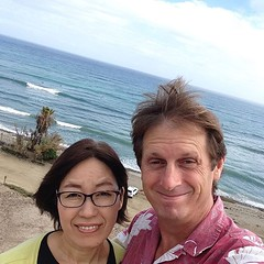 Checking out the Japanese surf contest at Old Man's in San Onofre. I used to surf here often in my early 20s. Lot's of great memories. If Emily decides to learn to surf this is where I will teach her.
