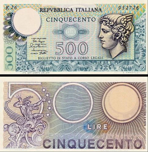 500 Lír Taliansko 1979