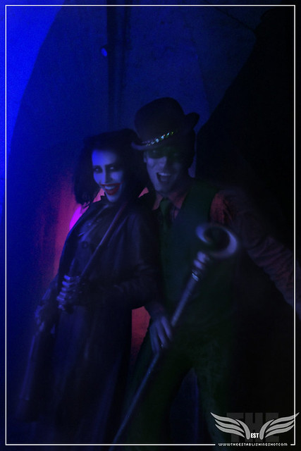 The Establishing Shot: HARLEY QUINN & THE RIDDLER AT THE ROGUES GALLERY - CREATION OF A SUPER-VILLAIN BOOK LAUNCH @ THE CRYPT GALLERY, LONDON - OCT 2015
