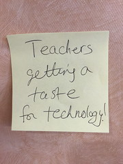 My favorite headline from yesterday\'s session @edurolearning Tech Tastings. Get it?