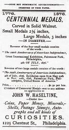 Centennial Medals ad