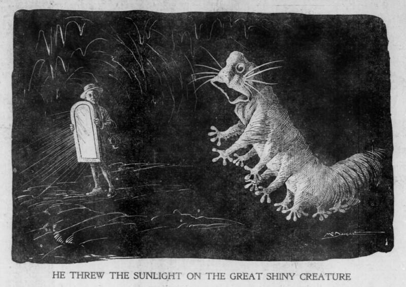 Walt McDougall - The Salt Lake herald., February 14, 1904, He Threw The Sunlight On The Great Shiny Creature