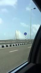 Taxi ride across new bridge connecting Worli and Bandra