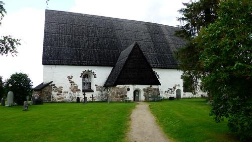 summer building church architecture finland geotagged july medieval fin isokyrö 2015 pohjanmaa eteläpohjanmaa 201507 geo:lon=2231632233 20150708 geo:lat=6300448120 storkyrö