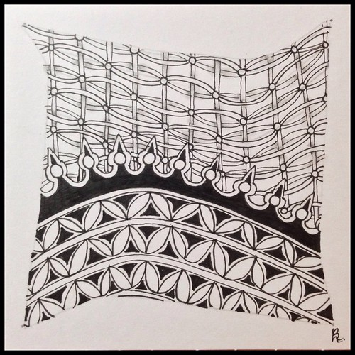 Zentangle 111 for Weekly Challenge #32: Tangle with U-K-H