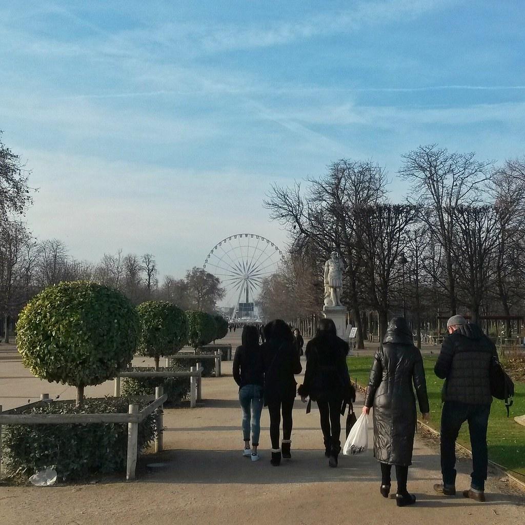 Le jardin des Tuileries, Pariisi, Ranska