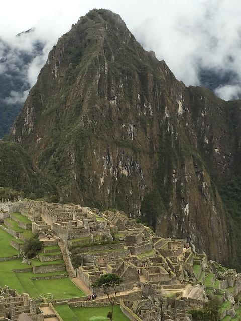 Machu Picchu and Huayna Picchu in the background.