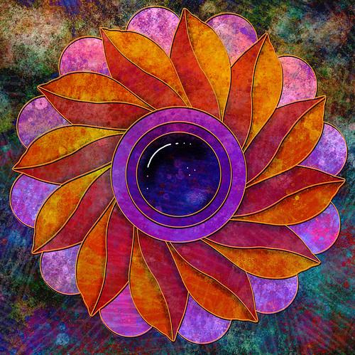 Digital collage mandala