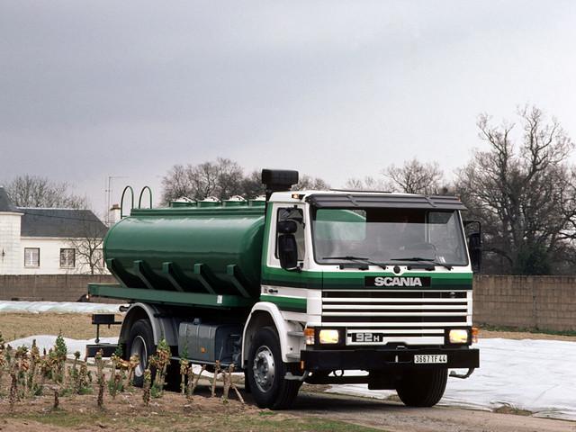 Цистерновоз Scania 92H 4x2 Tanker. 1985 – 1988 годы