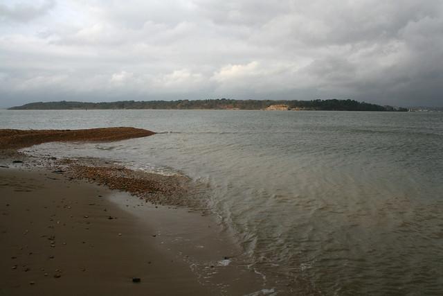Brownsea Island from Bramble Bush Bay