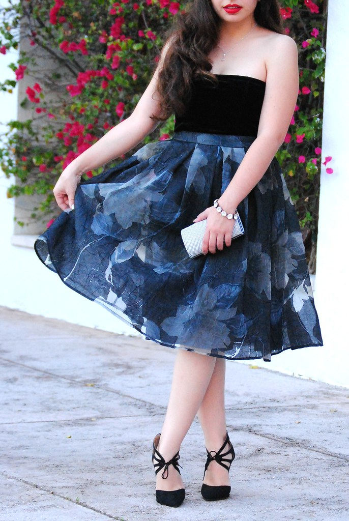 ASTR floral skirt