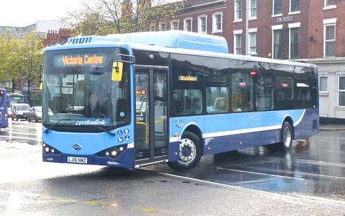 LJ16 NMZ 'Nottingham Community Transport' BYD K9UR / BYD on 'Dennis Basford's railsroadsrunways.blogspot.co.uk
