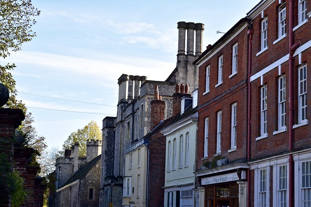 The street where Jane Austen died