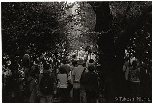 公園の中にも人がたくさんいる
