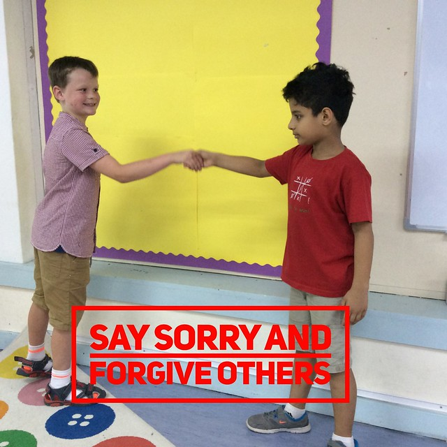 Say sorry and forgive others