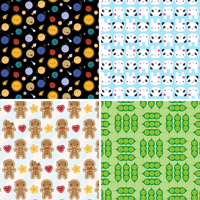 It's Free Swatch Day at Spoonflower! Why not choose one of my cute fabrics?